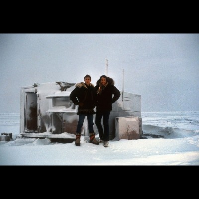 Dave and Kevin Nealon at Point Barrow, in the far, far north of Alaska.
