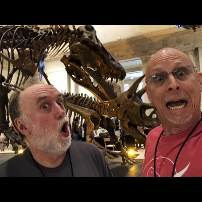 Ray and Dave at the LA County Museum of Natural History