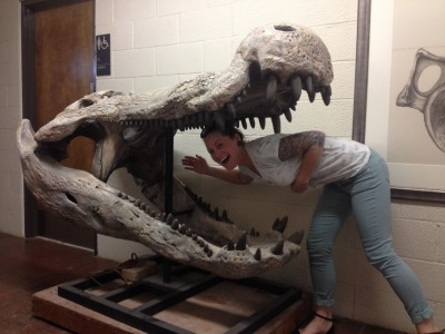 Kallie almost became lunch at the iDigBio Paleo Imaging Workshop at the University of Texas-Austin.