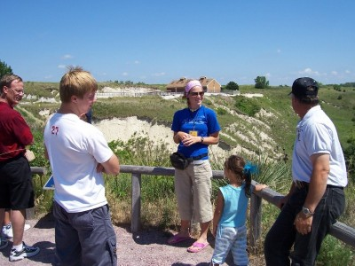 Kallie giving a geology tour at Ashfall Fossil Beds State Historical Park where she was an intern.