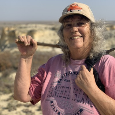 Barbara Shelton, Chuck's much better half, ace fossil hunter and preparator.
