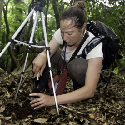Regan samples for phytoliths from the soil under a dense forest at Rincon de la Vieja National Park, Costa Rica. Comparing modern phytoliths and canopy covers is key to reconstructing paleo forests.