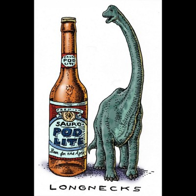 Speaking of giant sauropods here's Ray's drawing of two long necks just so there's no confusion!